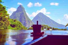 St. Lucia - honeymoon ideas - honeymoon resorts - Jade Mountain - Jade Mt. Resort - paradise - vacations - romantic getaway - luxury trips - newlyweds - traveling couples - island trips - amazing views - places to visit - bucket list travel