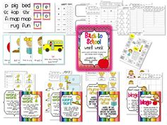The Lemonade Stand: Back to School Word Work and Free Table Labels