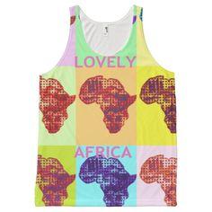 #Jambo #Hakuna #Matata #Lovely #Africa #All #Unisex #Tank #Women's #Africas #All-Over #Print #Singlets & #Tank-Tops