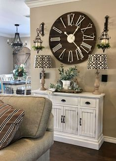 50 Lovely Wooden Decorative Ideas For Living Room Wall Decor Living Room decorative ideas living Lovely room Wooden Room Wall Decor, Small Living Rooms, Wall Decor Living Room, Decor, Farm House Living Room, Living Room Designs, Dining Room Walls, Living Room Furniture, Clock Wall Decor