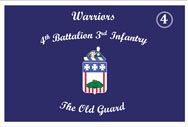 The 4th Battalion, 3d US Infantry Regiment (The Old Guard) conducts memorial affairs to honor our fallen comrades, and ceremonies and special events to represent the Army, communicating its story to our Nation's citizens and the world.    On order, conducts defense support of civil authorities in the National Capitol Region.