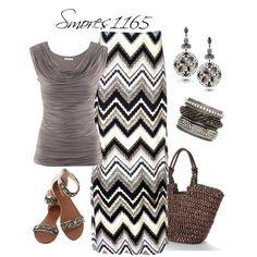 falda gris  negro blanco