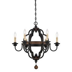 578/Savoy House Kelsey Bronze Six Light 26.5 Inch Wide Chandelier On SALE