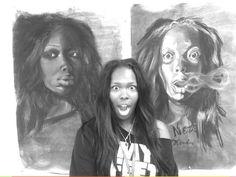 Portrait, self, chalk by Nezifah Momodou http://nezimomodu.com/ http://aboveignorance.tumblr.com/ https://instagram.com/theafricanartist/ https://twitter.com/nezifah https://soundcloud.com/nezi-momodu https://youtube.com/channel/UCe0nBnh5cPYFfKw5XF8Kcrg Nezifah.momodu@ttu.edu