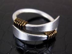 Hammered Aluminum Ring Mens or Womens Made to Order Ring Hand Crafted. $15.00, via Etsy.