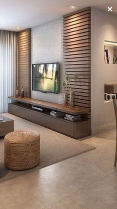 Meuble Tv Angle, Living Room Tv Unit, Living Room Decor, Living Room Designs, Be… Indian Living Rooms, Home Living Room, Living Room Decor, Dining Room, Tv Unit Decor, Tv Decor, Decor Ideas, Room Ideas, Ikea Ideas