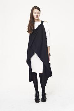 Black piquet heavy cotton Window jacket