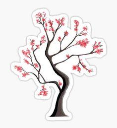 'Sakura' Sticker by adovemore Stickers Cool, Preppy Stickers, Tumblr Stickers, Anime Stickers, Planner Stickers, Journal Stickers, Printable Stickers, Scrapbook Stickers, Homemade Stickers