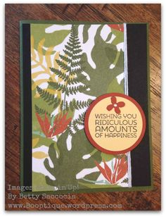 New Botanicals Paper and Cottage Greetings set by Stampin' Up!  Booptique.wordpress.com 1/8/16