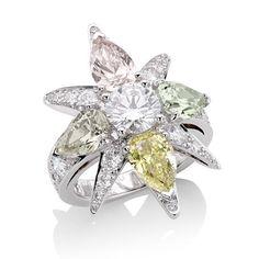 Star Diamond. Star Ring Constellation Collection.