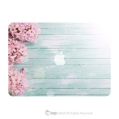 "TOP CASE - Vibrant Summer Series Hard Case Cover for Macbook Air 13""- Pink Hyacinth Turquoise Wooden"