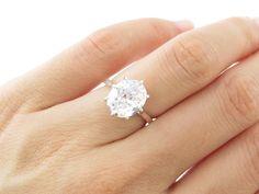 3 carat Diamond Anniversary Engagement 8 Prong by TigerGemstones, $79.99