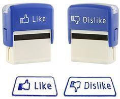 #Facebook Like Dislike Stamp