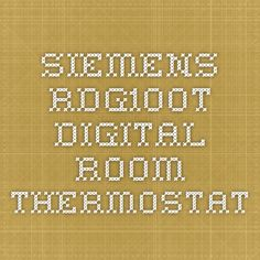 Siemens RDG100T digital room thermostat