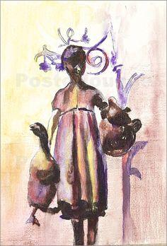 Göttinger Gänseliesel w: Poster & Kunstdruck von Andrea Fettweis