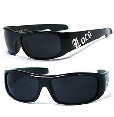 Locs Mens Cholo Biker Sunglasses - Shiny Black LC61 - http://clothing.goshoppins.com/mens-accessories/locs-mens-cholo-biker-sunglasses-shiny-black-lc61/