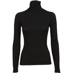 Turtle Neck Sweater (£150) ❤ liked on Polyvore featuring tops, sweaters, black, long sleeve tops, extra long sleeve sweater, turtleneck tops, long sleeve turtleneck top and peserico