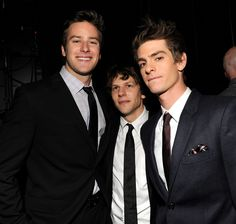 Andrew Garfield looked sexy in a suit with The Social Network costars Armie Hammer and Jesse Eisenberg at the Critics' Choice Movie Awards in January Social Network Movie, Garfield Pictures, Sea Wallpaper, Hot Shots, Hollywood Actor, Celebrity Photos, Actors & Actresses, Sexy, Celebs