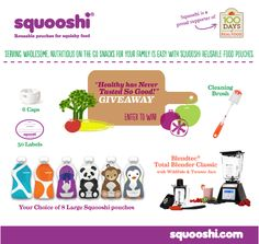 Healthy Never Tasted So Good |  A Squooshi Giveaway