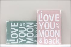 I Love You to the Moon and Back  Wall Art Wood Sign by InMind4U, $27.00