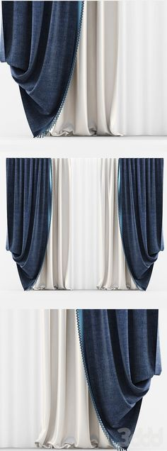 Curtains Classic Blue