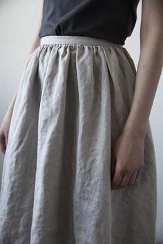 Rosa Linen Skirt - Fog www.ovate.ca