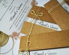 Convite de casamento rústico!  www.cartesdesign.com cartesconvites@gmail.com Instagram: cartesdesign