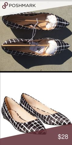 Plaid collection pointed toe flats New with original box and dust bag Adam Lippes Shoes Flats & Loafers