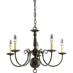 Progress Lighting - Americana Collection Antique Bronze 5-light Chandelier - 785247160549 - Home Depot Canada $132