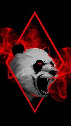 Angry Panda Wallpaper - iPhone Wallpapers