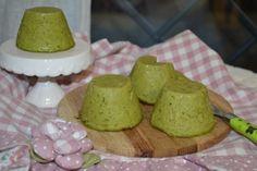 Sformatini broccoli, farina di ceci al latte di mandorla