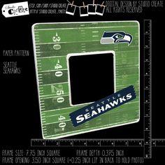 photo frame - seattle seahawks (NFL, football, 12) by studioCREATE on Etsy Frame Sizes, Home Based Business, Seattle Seahawks, Nfl Football, Pattern Paper, Letters, Digital, Etsy, Design