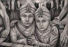 My interpretation of 'Mai Bhago Ji' a female Sikh soldier and bodyguard for Guru Gobind Singh for my 'Sikh art' exhibition in NovemberMai Bhago fought i. Guru Granth Sahib Quotes, Shri Guru Granth Sahib, Guru Nanak Wallpaper, Shiva Wallpaper, Happy Lohri Images, All God Images, Baba Deep Singh Ji, I Miss You Wallpaper, Guru Nanak Ji