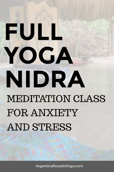 Full Yoga Nidra meditation for anxiety and stress. Yoga Nidra is a meditation that's done lying down on the back, great meditation for beginners, for yoga beginners, and anyone wanting relaxation and stress relief. Yoga Nidra Meditation, Meditation Benefits, Yoga Benefits, Guided Meditation, Yoga For Stress Relief, Stress Yoga, Meditation For Beginners, Yoga Beginners, Yoga Positions
