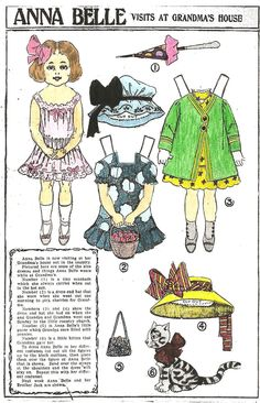 Anna Belle Visits at Grandma's House paper doll 1909 / mostlypaperdolls