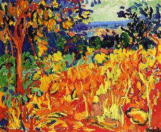 """The Orchard"" do pintor francês Maurice de Vlaminck. Georges Braque, Henri Matisse, Andre Derain, Raoul Dufy, Fauvism Art, Maurice De Vlaminck, Great Works Of Art, Oil Painting Reproductions, Art For Art Sake"