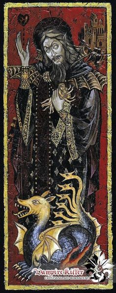Dracula Iconography in a Byzantine style painting // Vlad the Impaler? Arte Horror, Horror Art, Fantasy Kunst, Fantasy Art, Vlad The Impaler, Vampire Art, Vampire Dracula, Vampires And Werewolves, Occult Art