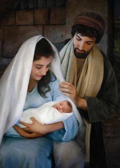 LDS Art - Christmas & Nativity — Altus Fine Art Nativity Painting, Birth Of Jesus, Baby Jesus, Pictures Of Christ, Christmas Nativity, The Nativity, Nativity Crafts, Family Christmas, Lds Art