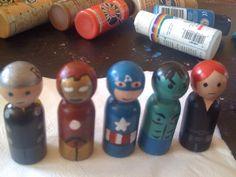 Avengers peg dolls