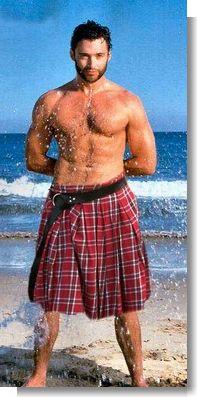Hugh Jackman sporting a kilt! The best of all my fantasies! What is under the kilt? Jamie Dornan, X Men, Look At You, How To Look Better, Gorgeous Men, Beautiful People, Pretty Men, Hugh Wolverine, Hugh Michael Jackman