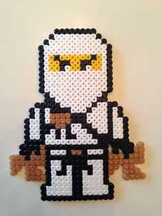 Billedresultat for lego ninjago perler Perler Beads, Fuse Beads, Perler Bead Designs, Pearler Bead Patterns, Perler Patterns, Lego Ninjago, Hama Bead Boards, Pixel Art, Beading For Kids