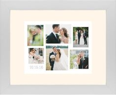 Gallery Collage of Six Framed Print, White, Contemporary, None, Cream, Single piece, 11 x 14 inches