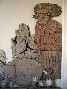 Grandma Cardboard by will scobie, via Flickr