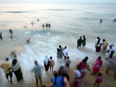 "A myriad of Sri Lankans gather at Galle Face beach in Colombo to take a walk, watch the sun descend over the Indian Ocean, and wash their feet in the waves. ""There is lots of color,"" says photographer Palani Mohan."