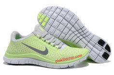 Liquid Lime Reflective Silver White Nike Free 3.0 V4 Women's Running Shoes