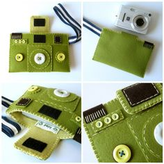 felt camera: camera case>>> I need to make a big one of these:)
