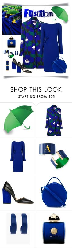 """P.A.R.O.S.H. Floral Coat & Dress Look"" by romaboots-1 ❤ liked on Polyvore featuring LEXON, P.A.R.O.S.H., Petar Petrov, Nico Giani, Chico's, AMOUAGE and Balmain"
