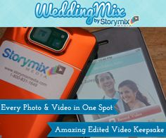 The perfect video and photo 'hack'. Every wedding memory in a box. With the WeddingMix app and cameras you'll capture everything from everyone in one spot. Then they edit the best parts into a video keepsake starting at $99. Cool!