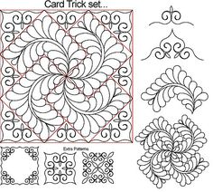 The Quilter's Quilter :: Digital Quilting Patterns :: Specific Blocks :: Card Trick Patchwork Quilting, Quilting Stitch Patterns, Machine Quilting Patterns, Quilt Stitching, Applique Quilts, Quilt Patterns, Quilting Stencils, Quilting Templates, Quilting Projects