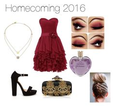 """Homecoming 2016"" by moderndayprincess ❤ liked on Polyvore featuring Michael Kors, Vera Wang and Oscar de la Renta"